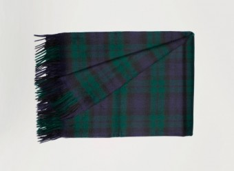 Begg-Kashmir-Plaid-Arran-Tartan-Black-Watch