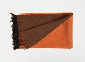 Begg-Plaid-Jura-Reversible-Oak-Orange