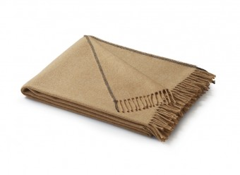 Biederlack-Baumwollplaid-Uni-camel