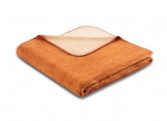 Biederlack Plaid Duo Cotton Melange ocker beige