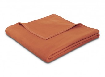 Biederlack-Plaid-Uno-Soft-terracotta
