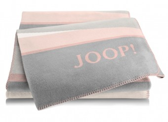 Joop!-Plaid-Bright-rose-graphit
