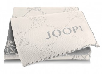 Joop!-Plaid-Cornflower-Double-ecru-graphit