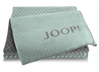 Joop!-Plaid-Diamond-aqua-schiefer