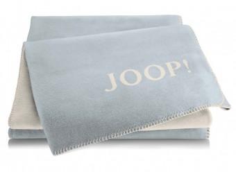 Joop!-Plaid-Uni-Doubleface-aqua-pergament