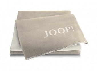Joop!-Plaid-Uni-Doubleface-sand-pergament
