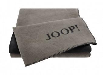 Joop!-Plaid-Uni-Doubleface-taupe-anthrazit