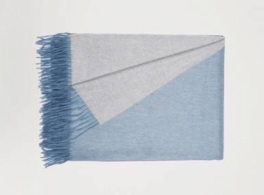 Vorschaubild begg arran reversible plaid bluejean silver