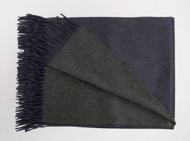 Vorschaubild begg arran reversible plaid navy charcoal