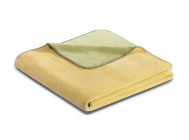 Vorschaubild biederlack duo cotton plaid jojoba heu