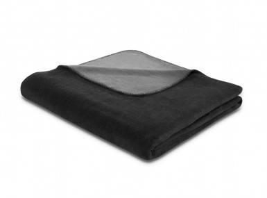 Vorschaubild biederlack duo cotton plaid schwarz schiefer