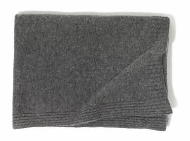 Vorschaubild christian fischbacher amado plaid kaschmir grau