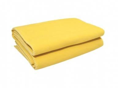 Vorschaubild zoeppritz soft fleece tagesdecke curry gelb