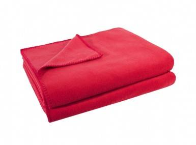 Vorschaubild zoeppritz soft fleece tagesdecke erdbeer rot
