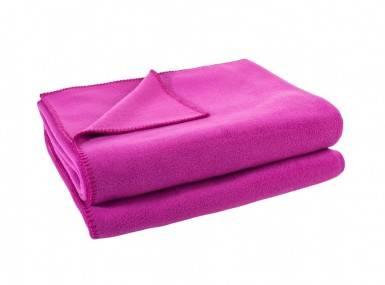 Vorschaubild zoeppritz soft fleece tagesdecke fuchsia pink