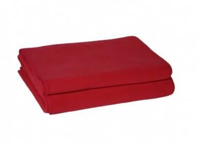 Vorschaubild zoeppritz soft fleece tagesdecke geranien rot