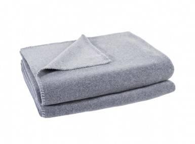 Vorschaubild zoeppritz soft fleece tagesdecke hellgrau melliert
