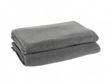 Vorschaubild zoeppritz soft fleece tagesdecke mittelgrau melliert