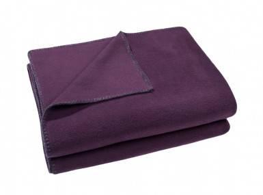 Vorschaubild zoeppritz soft fleece tagesdecke schwarzbeer lila