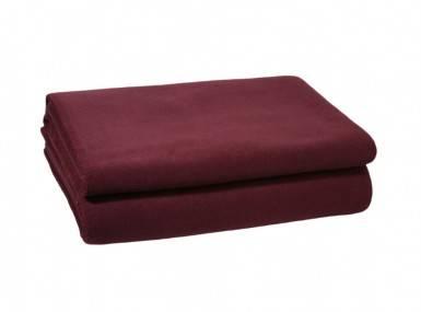 Vorschaubild zoeppritz soft fleece tagesdecke wein rot