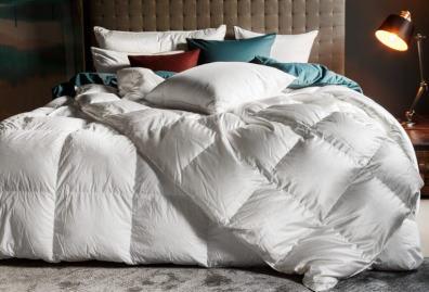 Bettdecken gefüllt mit Daunen